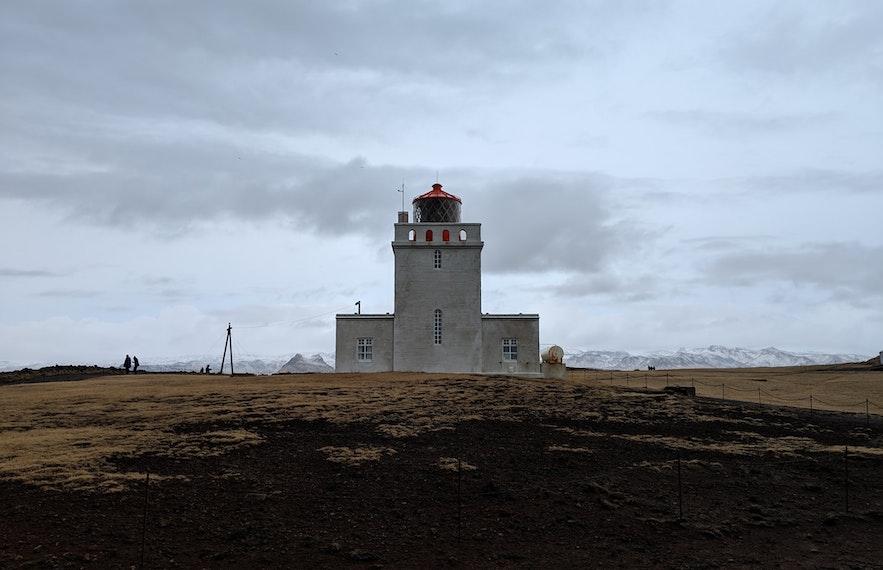 Dyrholaey has a unique lighthouse on the South Coast.