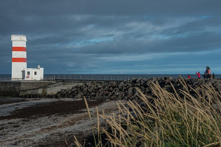 The Reykjanes Peninsula has the Gardur lighthouse.