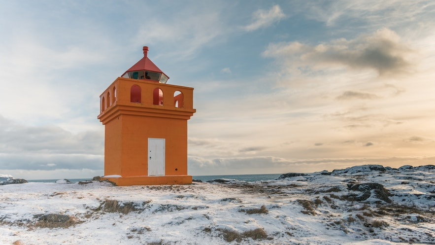 The East Fjords of Iceland have many quaint lighthouses.