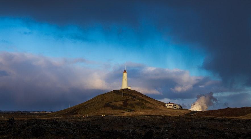 Reykjanesviti is a lighthouse on the Reykjanes Peninsula.