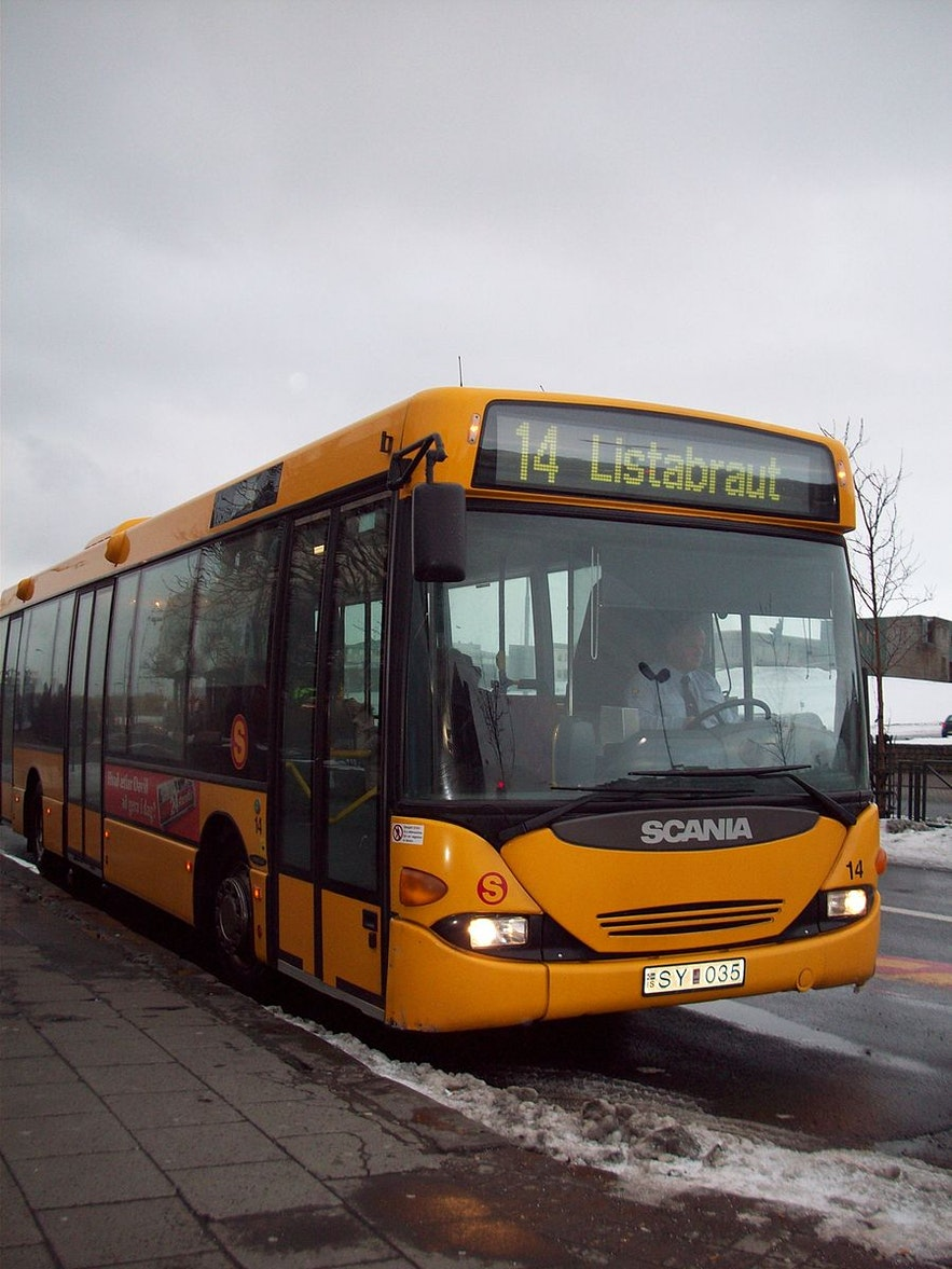 The bus service that travels around Reykjavik is convenient and affordable.