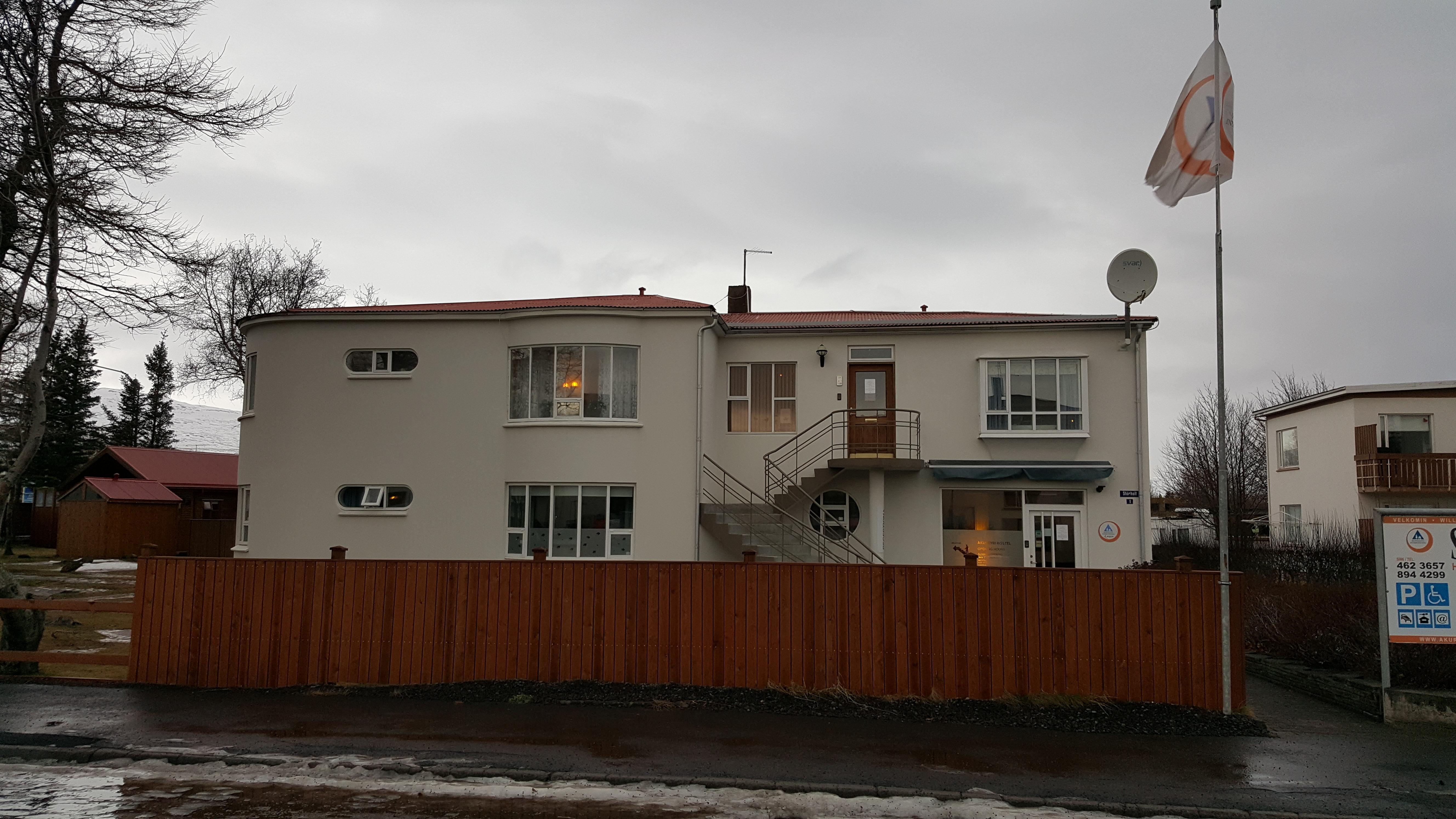 Akureyri Hostel view from road