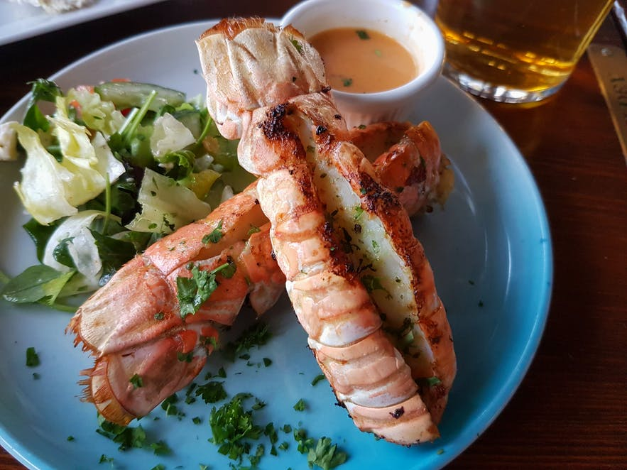 Laugestine is called lobster in Iceland.