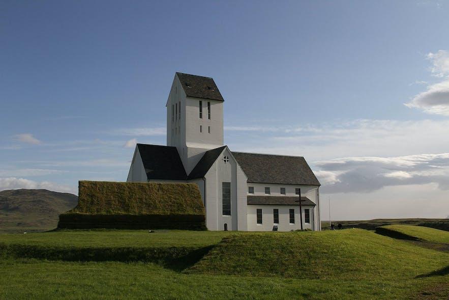 Skálholt's church in Iceland is a historic monument.
