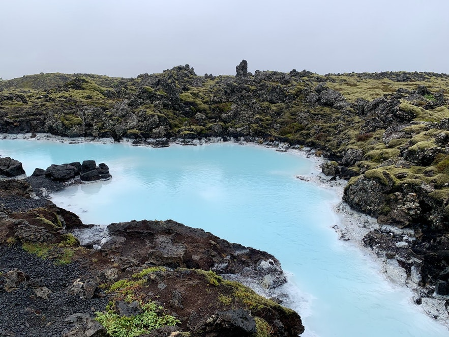 The Blue Lagoon is surrounded by pools of azure water.