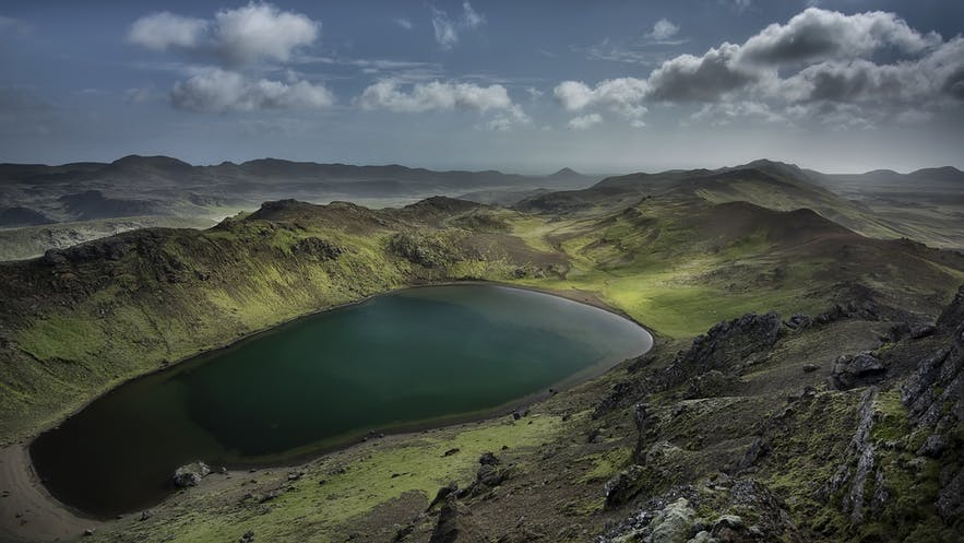 The Blue Lagoon is like an oasis in the lava field of Reykjanes peninsula