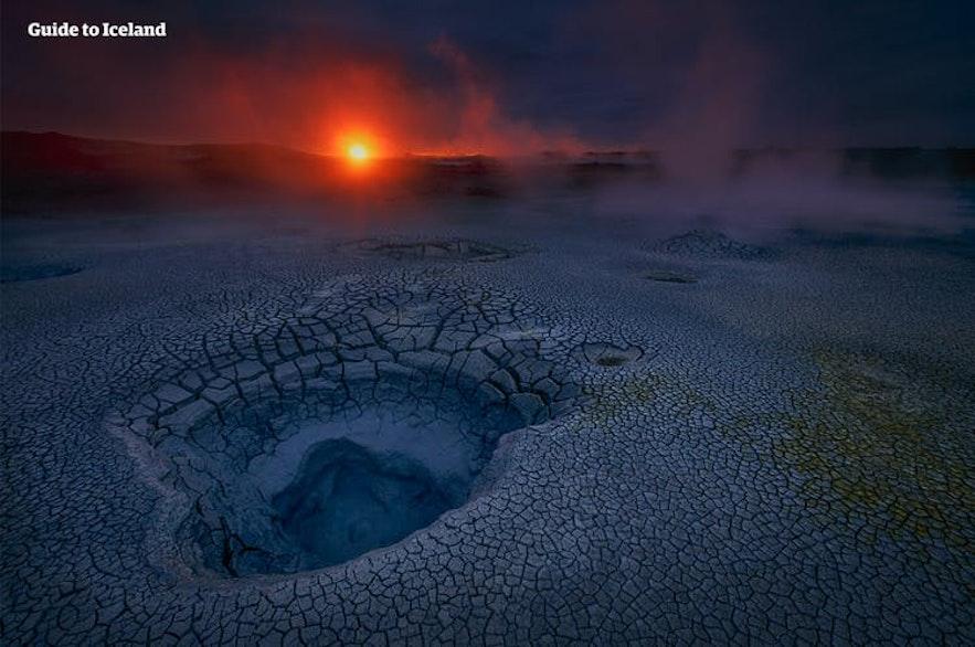 Seltún geothermal area by Krýsuvík on Reykjanes peninsula in Iceland