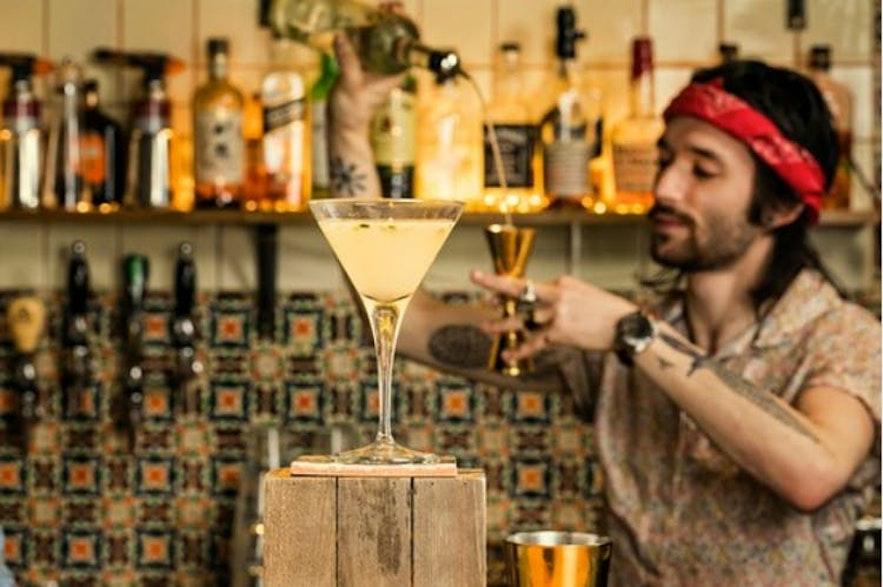 Many of Reykjavik's bars serve cocktails.
