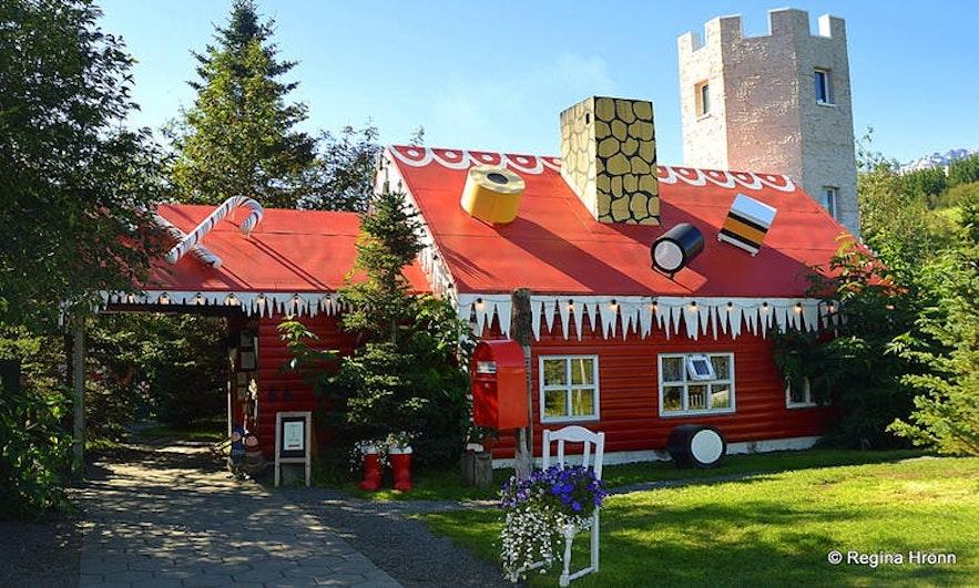 The Christmas House in Akureyri in summer.