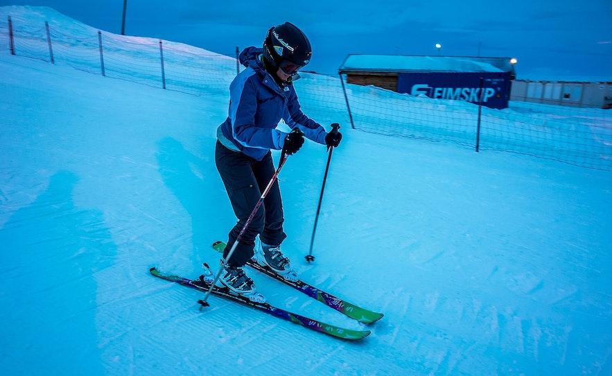 Hlidarfjall has many great ski slopes.