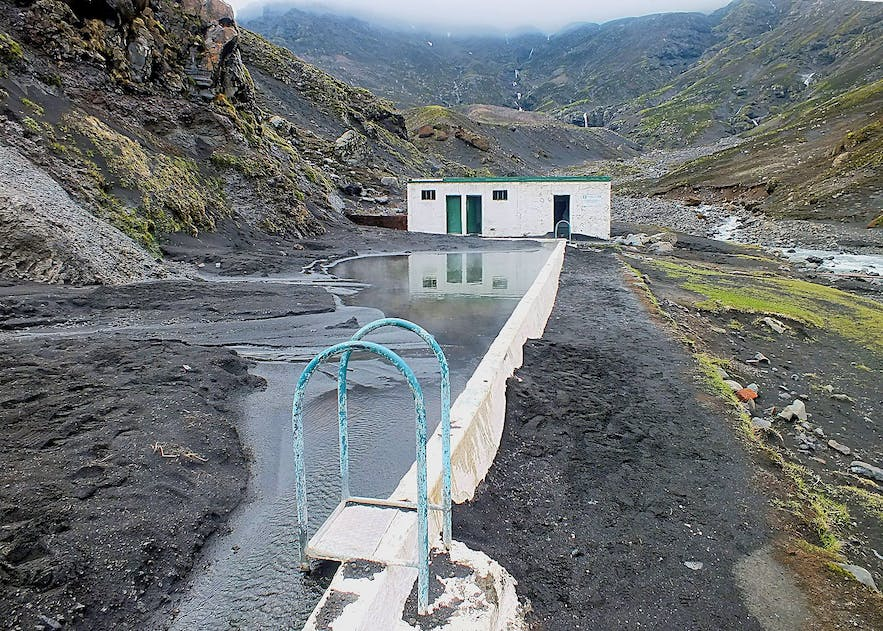Seljavallalaug pool is located in south-west Iceland.