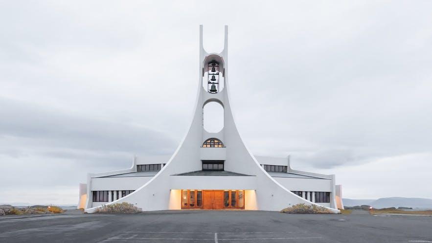 Stykkisholmur has a charming church.