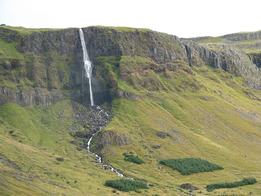 Bjarnafoss waterfall on Snæfellsnes peninsula in Iceland