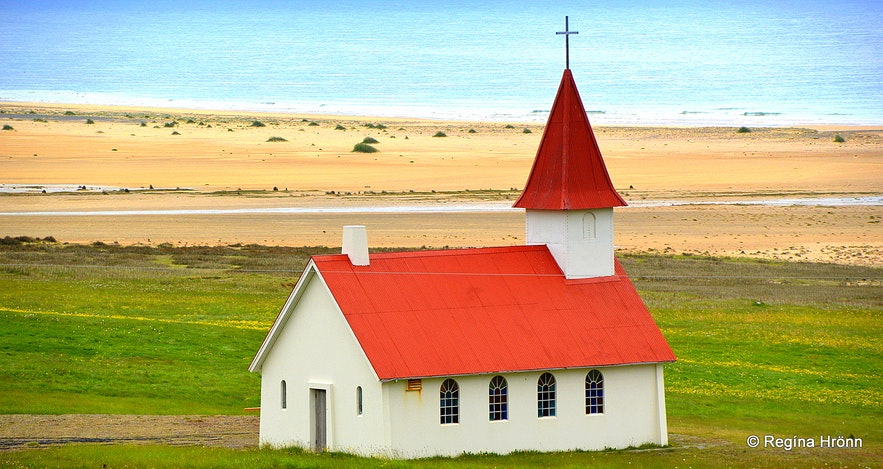 Breiðavíkurkirkja church in the Westfjords of Iceland
