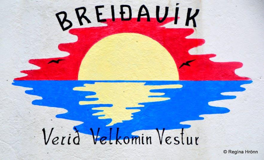 Breiðavík welcoming sign