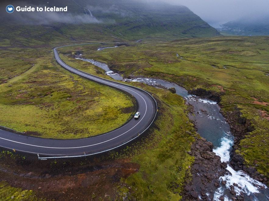 The road twists towards Seydisfjordur.