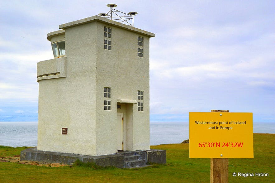The lighthouse at Bjargtangar Westfjords of Iceland