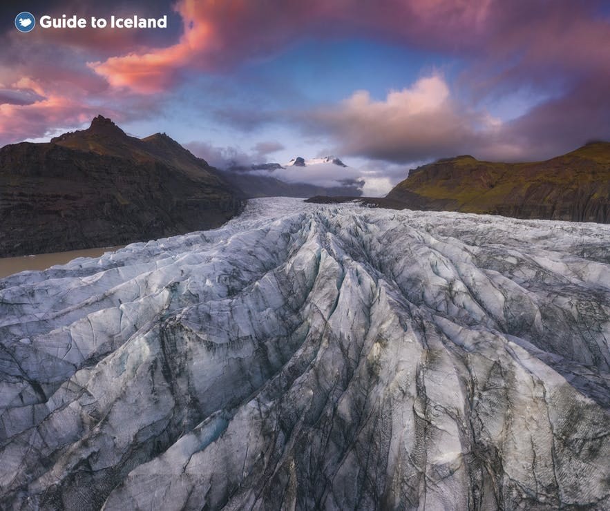 Glacier hiking is a great adventure in Iceland.
