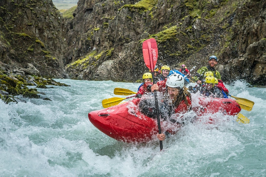 River rafting in North Iceland is scenic and extremely fun
