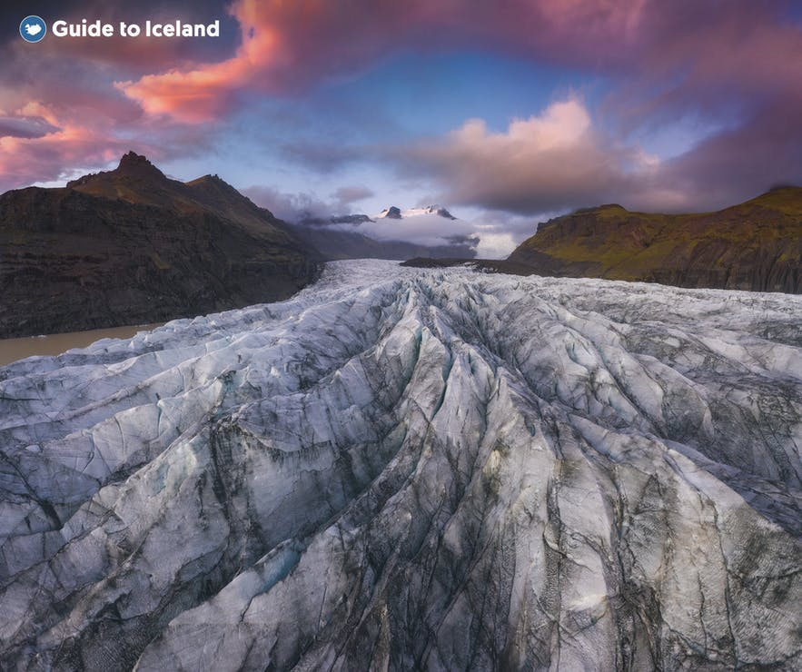 There are many glaciers on Iceland's South Coast.