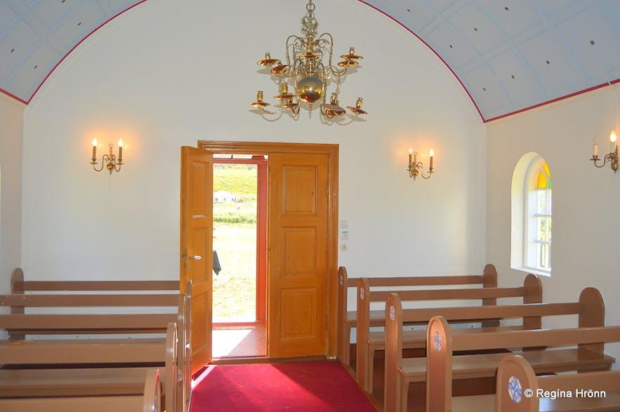 Sæbólskirkja church Ingjaldssandur Westfjords of Iceland