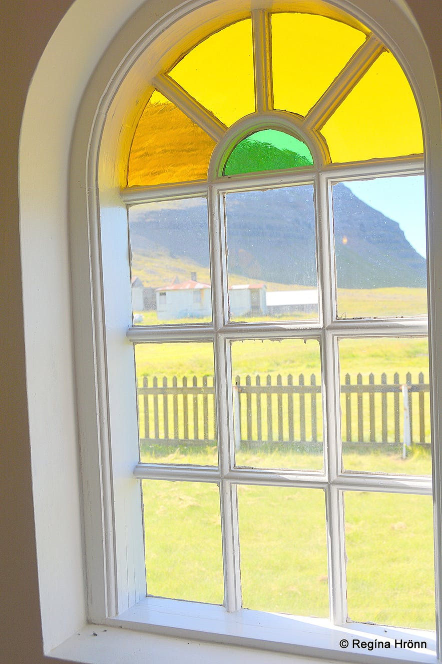 Inside Sæbólskirkja church in Ingjaldssandur Westfjords of Iceland