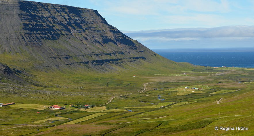 The view of Ingjaldssandur in the Westfjords
