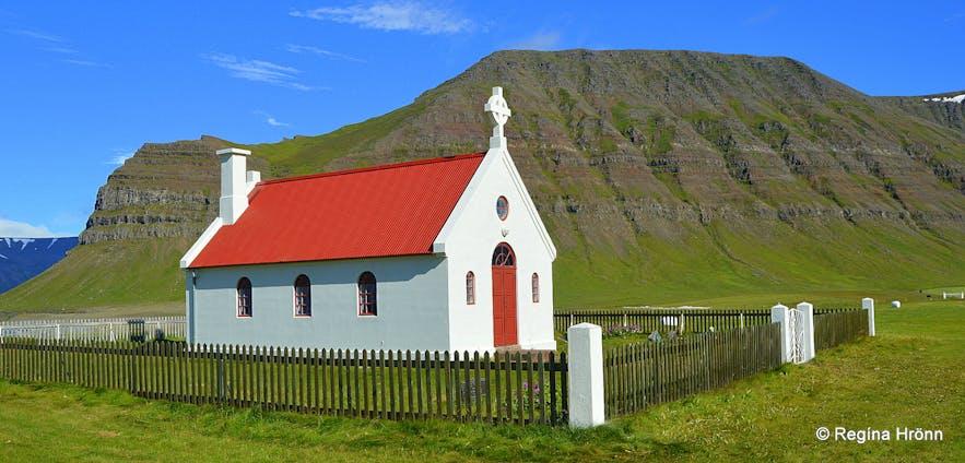 Sæbólskirkja church, Ingjaldssandur Westfjords of Iceland