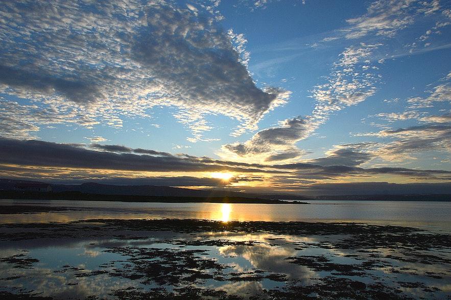 Sunset at Kirkjuból Strandir
