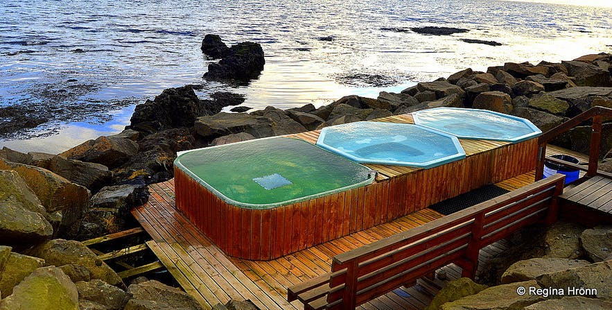Drangsnes hot tubs are lovely to bathe in.