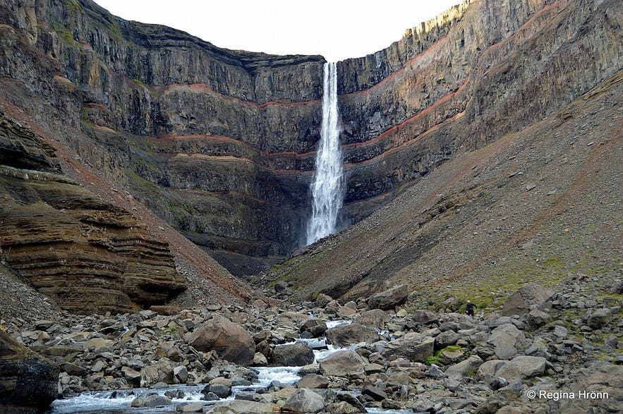 Hengifoss is one of the most notable falls in Iceland.