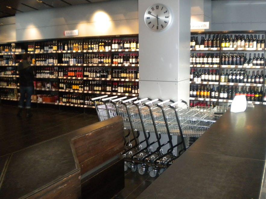 Vinbudin is Iceland's alcohol shop.
