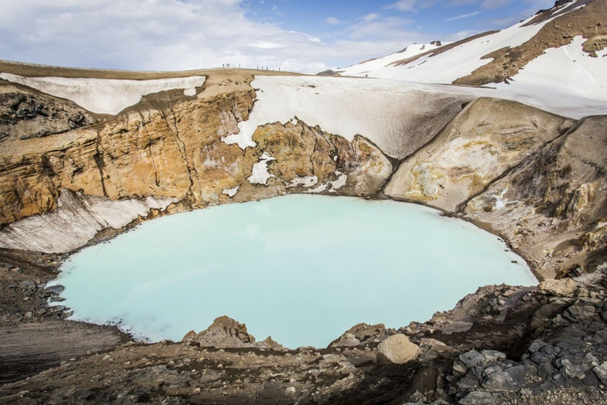 The crater lake of Viti in Askja is a quiet, peaceful spot