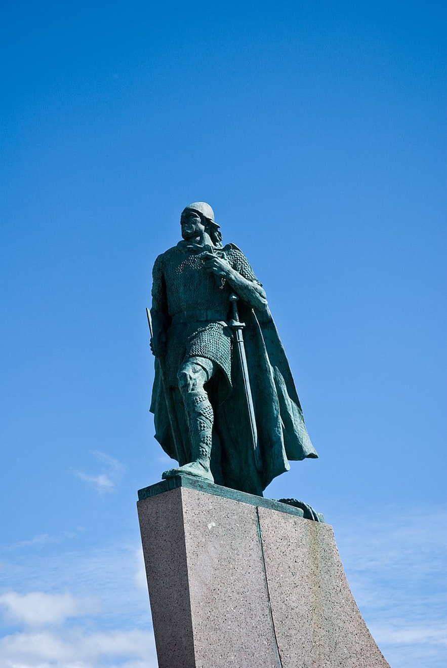Leif the Lucky is a famous Icelandic hero.