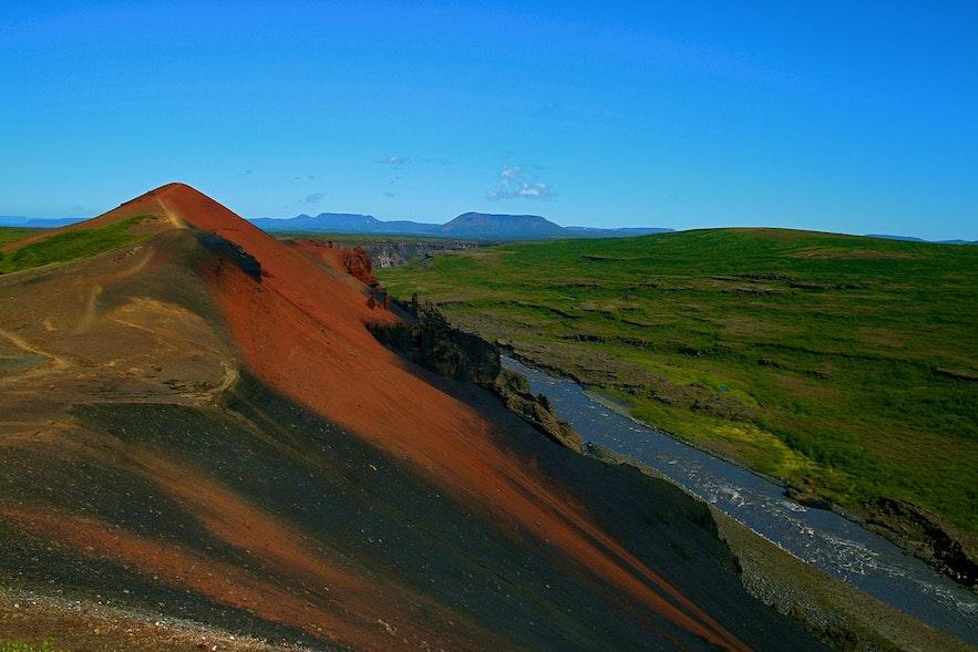 Rauðhólar (Red Hills) in Vesturdalur, Iceland