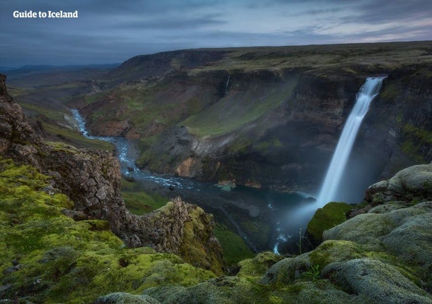 Haifoss is one of the most stunning waterfalls in Thjorsadalur valley.