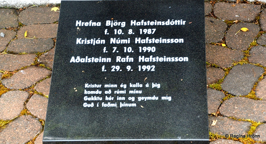 The memorial grove for the victims of avalanches in Súðavík