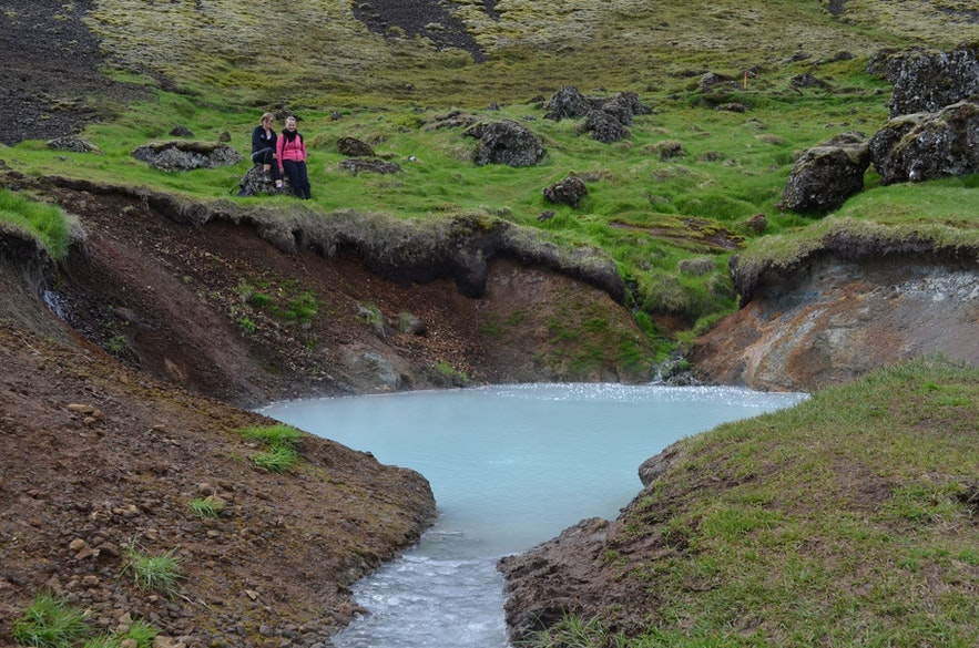 Reykjadalur has a hot spring river near Reykjavik.