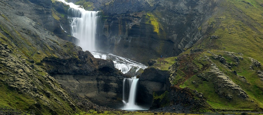 Ofaerufoss is a waterfall in Iceland's highlands.