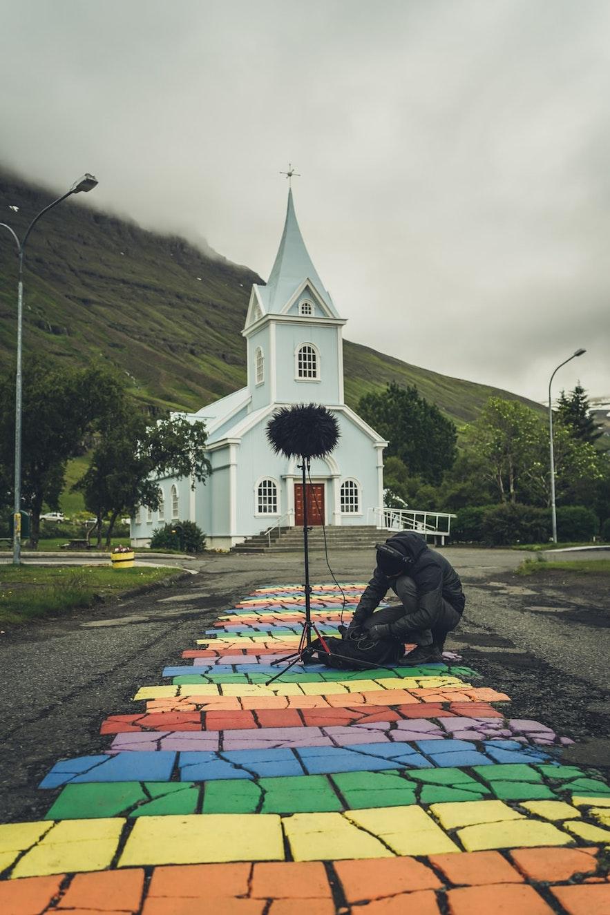 The Blue church in Seyðisfjörður.