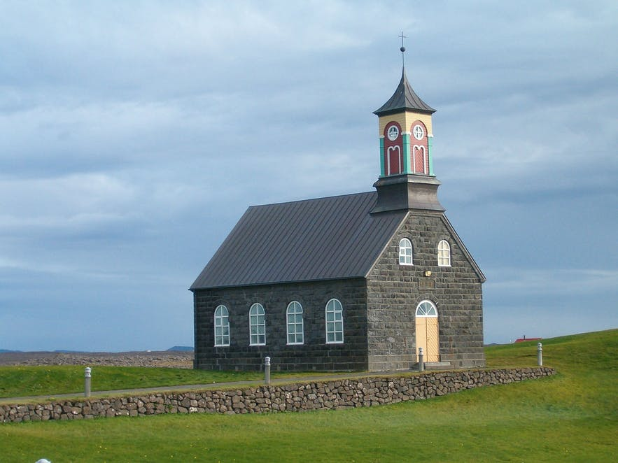 Hvalsneskirkja is a church found in Iceland.