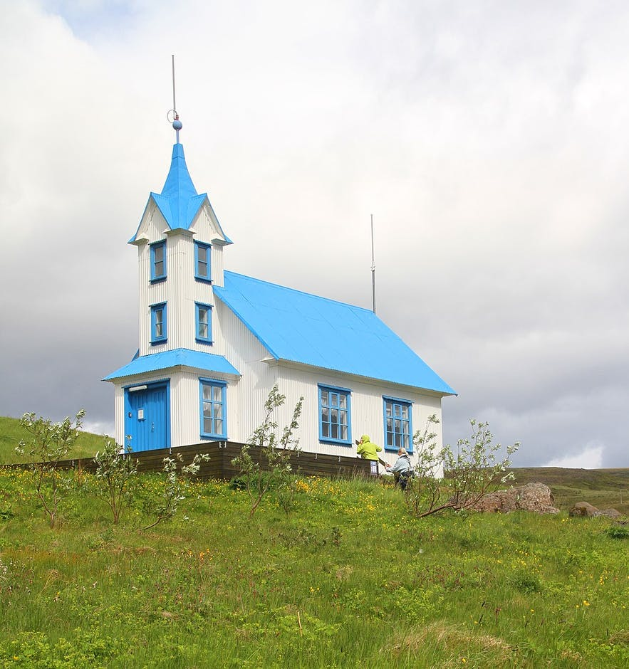 Kirkjubær is no longer a church, but a guesthouse.
