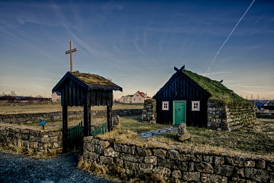 Árbæjarkirkja is a festive church in Iceland.