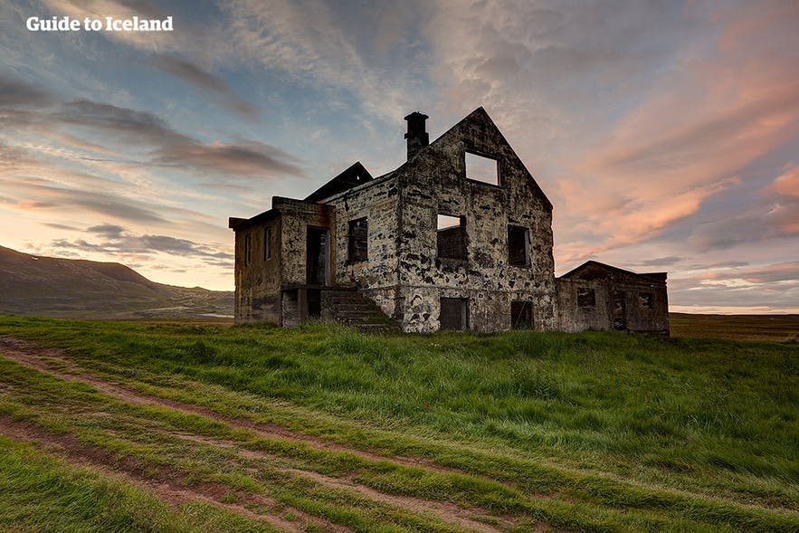 The Reykjanes Peninsula has many accommodation options, thankfully more together than this abandoned building.