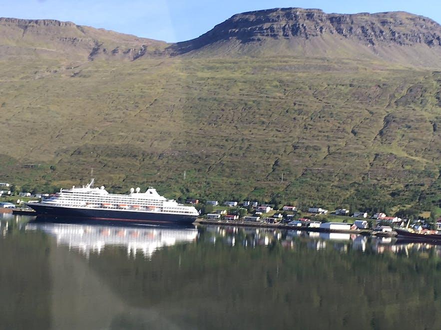 Eskifjordur has a port for cruise ships.
