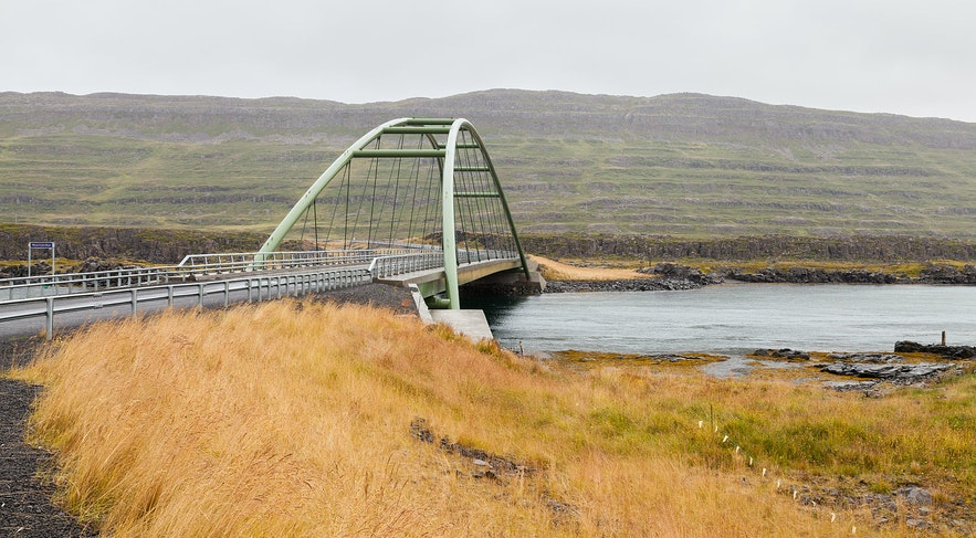 Mjóifjörður has a unique bridge.