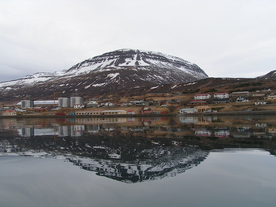 Reydarfjordur is located in a fjord of the same name.