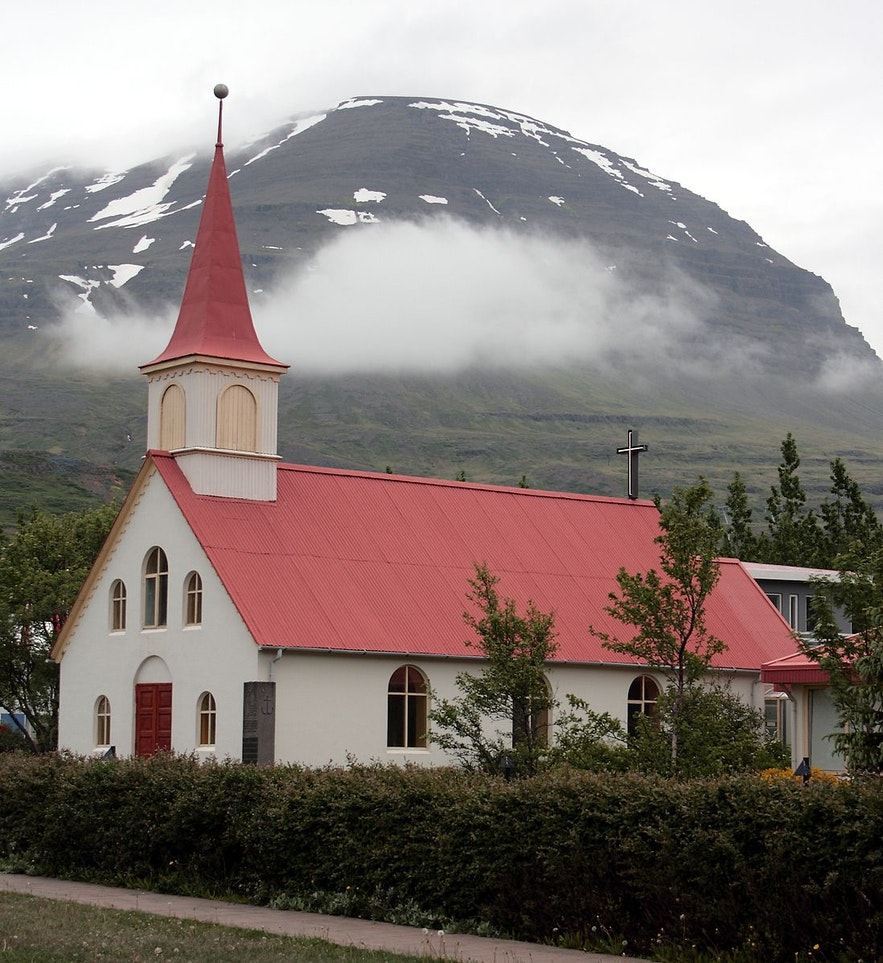 Churches in the East Fjords are quaint and special.