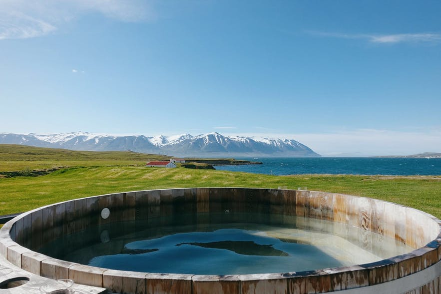 Bjórböðin is not a classic geothermal spa in Iceland.