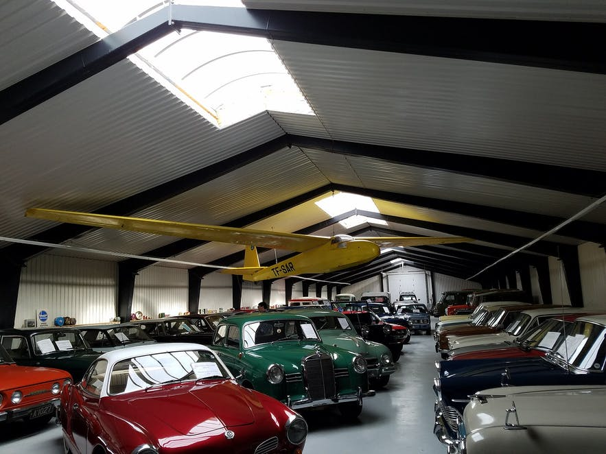 The Ystafell Transport Museum has a range of old cars and even a plane.